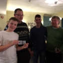 2nd = Father and Son teams - Chris and Ollie Howell (left) and Peter and Guy Batchelor